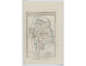 DELAPORTE, L'Abbé. -  Carte du Département du Cher.
