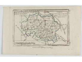 DELAPORTE, L'Abbé. -  Carte du Département de l'Allier.