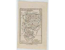 DELAPORTE, L'Abbé. -  Carte du Département de l'Aisne.