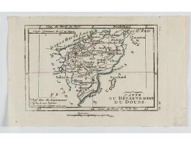 DELAPORTE, L'Abbé. -  Carte du Département du Doubs.