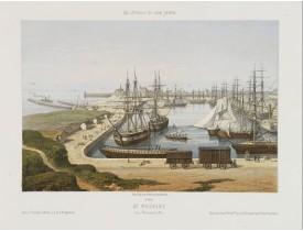ASSELINEAU, L. A. -  St.  Nazaire. Vue Générale du Port.