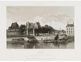 SALATHE. -  Nantes.Chapelle du château cathédrale et cours Saint Pierre.