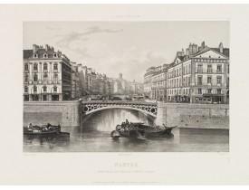 SALATHE. -  Nantes. Embouchure du canal de Nantes à Brest.