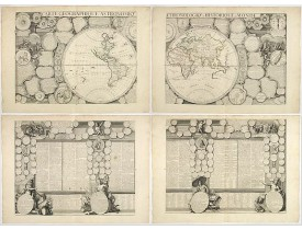 CRÉPY, Etienne-Louis. -  Carte Geographique Astronomique Chronologique et Historique du Monde.
