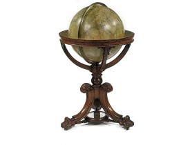 NEWTON & SON -  NEWTON'S New and Improved TERRESTRIAL GLOBE Accurately delineated from the observations of the most esteemed NAVIGATORS AND TRAVELLERS to the Present Time. . .