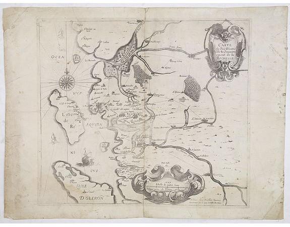 TAVERNIER, M. -  Carte du Pais d'Aunis Ville & Gouvernement de la Rochelle.