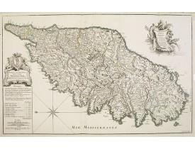 JAILLOT, H. -  Carte Particuliere de L'Isle de Corse Divisée par ses Dix Provinces ou Juridictions et ses quatre Fiefs…