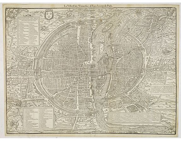 BELLEFOREST, F. de. -  La ville, cité, Universite & Faux-bourgs de Paris.