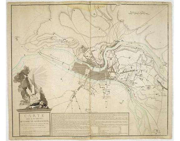 GIRARD-AUBERT. - Carte des environs de Commune-Affranchie. . . (Lyon).