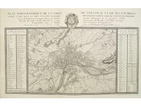 DUPAIN-TRIEL fils. - Plan topographique de la ville de Toulouse et de ses environs.
