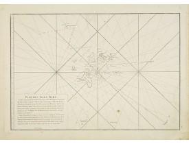 APRES DE MANNEVILLETTE, J-B. N. d'. - [Seychelles].Carte réduite de l'Océan Oriental Septentrional … avec les Isles de Ceylan, Maldives et Laquedives [ au verso carte manuscrite des Seychelles]/ Plan des Isles Mahé [ au verso carte manuscrite de Praslin].