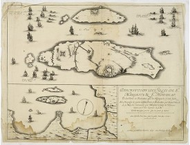 TAVERNIER, M. - Description des isles de Ste Margrite & St Honorat. Et des forts et redouttes que les Espagnols y ont faitz et la reprisse de partie desditz forts et redouttes par l'armée navalle de Sa Majesté commandée par Monsieur le comte de Harcou
