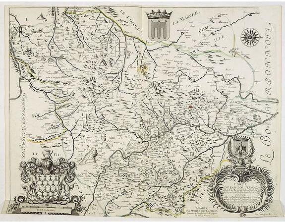 DU BOUCHET. - Carte du pais d'Auvergne.