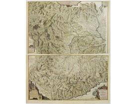 FER, N. de. - Principaute de Piemont Seigneurie de Verceil... Principauté d'Oneglia... Le Comté de Nice le Marquisat de Salusse et Principauté de Monaco.