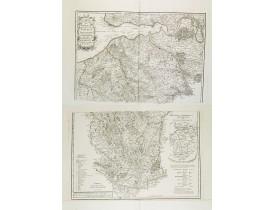 ANVILLE, J.B. Bourguignon d' - Carte topographique du diocèse de Lizieux / dressée par ordre d'illustrissime... messire Henri-Ignace de Brancas, évêque et comte de Lisieux.