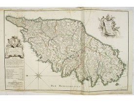 JAILLOT, B-A. - Carte Particulière de l'Isle de Corse. Divisée par ses dix Provinces ou Juridictions et ses quatre Fiefs.