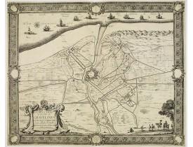 BEAULIEU, Sébastien de PONTAULT de. - Plan et Siège de la Ville de Gravelines assiégée et prise par Son Altesse Royalle Monseign.r le duc d'Orléans.