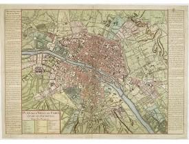 DAUMONT. - Plan de la Ville de Paris et de ses Faubourgs.