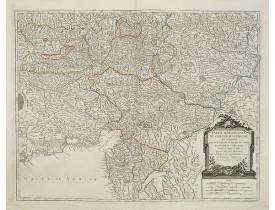 ROBERT DE VAUGONDY, G. -  Partie Méridionale du Cercle d'Autriche. . .