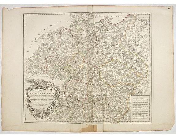 DELAMARCHE, C-F. -  Carte de l'empire d'Allemagne. . .