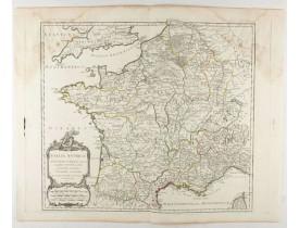 ROBERT DE VAUGONDY, G. -  Gallia antiqua in provincias et populos divisa, . . .