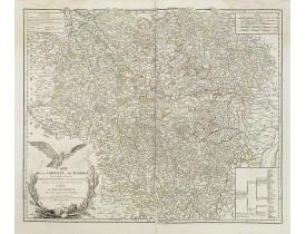 ROBERT DE VAUGONDY, G. -  Carte de la Lorraine et du Barrois. . .
