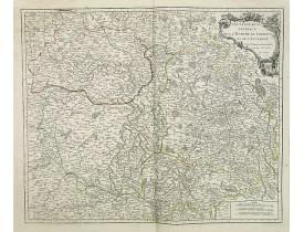 ROBERT DE VAUGONDY, G. -  Gouvernemens généraux de la Marche, du Limosin et de l'Auvergne.