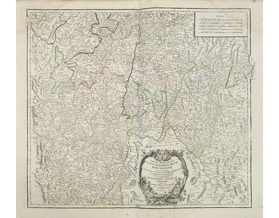 ROBERT DE VAUGONDY, G. -  Partie meridionale du Gouvernement genl. de Bourgogne. . . / Gouvernement general du Lyonois. . .