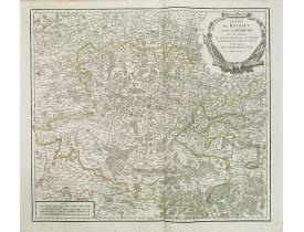 ROBERT DE VAUGONDY, G. -  Comtés de Hainaut et de Cambrésis. . .