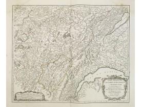 ROBERT DE VAUGONDY, G. -  Partie méridionale du comté de Bourgogne ou Franche-Comté. . .