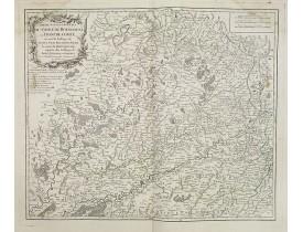 ROBERT DE VAUGONDY, G. -  Partie septentrionale du comté de Bourgogne ou Franche-Comté. . .