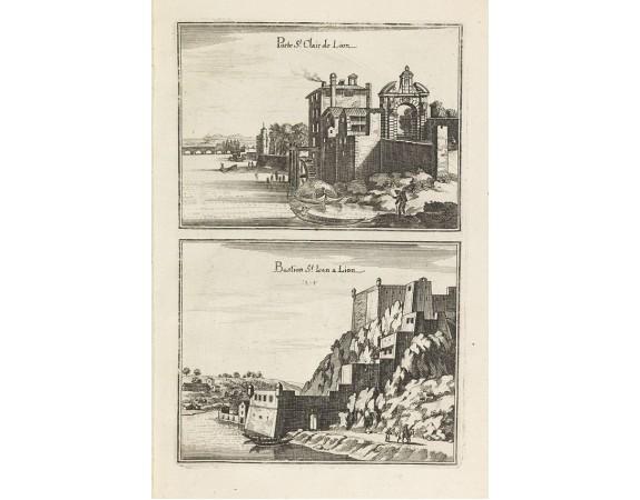 MERIAN, C. -  Porte St. Clair de Lion. / Bastion de St Jean de Lion.