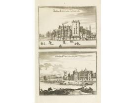 MERIAN, C. -  Château de Moulins en Bourbonois / Maison de Vimÿ pres de Lyon.