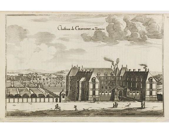MERIAN, C. -  Chasteau de Chavigny en Touraine.