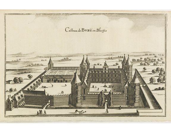 MERIAN, C. -  Casteau de Burÿ en Blaisois.