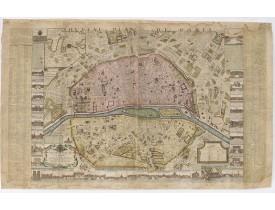 ROUSSEL, C. -  Nouveau plan de la Ville, Cité, et Université de Paris par son très humble et très obéissant serviteur Roussel.