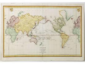 LA PEROUSE, J. F. G. de - Mappemonde ou carte réduite des parties connues du globe.