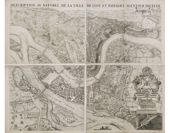 MAUPIN, Simon. -  Description au naturel de la ville de Lyon et païsages alentour d'icelle.
