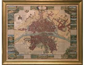 FER, N. de. / JOUVIN DE ROCHEFORT. -  Le nouveau plan de Paris dressé sur les Mémoires de M. Jouvin de Rochefort…