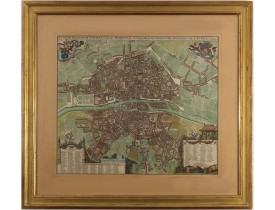 WIT, F. de -  Lutetiae Parisiorum Universae Galliae Metropolis Novissima & Accuratissima Delineatio per F. de Wit cum Privilegio.