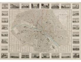 TOUSSAINT, A. -  Nouveau plan routier de Paris, ou guide exact dans cette capitale, divise´ en 12 arrondissements et en 48 quartiers.