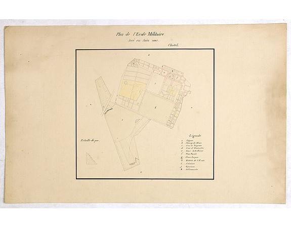 CHATEL. -  Plan de l'Ecole Militaire levé en Juin 1845.