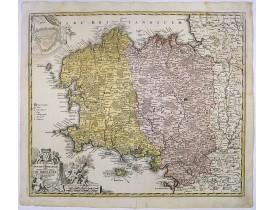 HOMANN, J. B. -  Tabula Ducatus Britanniae Gallis le Gouvernemt. General de Bretagne.