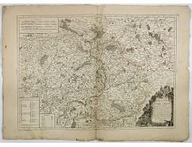 DELAFOSSE, D. -  Carte du gouvernement général du Maine et Perche.