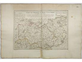 L'ISLE, G. de. -  Carte des Provinces du Maine et du Perche dans laquelle se trouve comprise la partie septentrionale de la généralité de Tours.