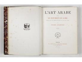 PRISSE D'AVENNES, Achille Constant. -  L'Art arabe d'après les monuments du Kaire depuis le VIIe siècle jusqu'à la fin du XVIIIe.