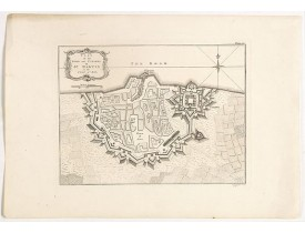 JEFFERYS, Thomas. -  Plan of the Town and Citadel of St. Martin in the Isle of Re.