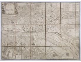 ANONYME. -  Plan routier de la ville et faubourg de Rouen divisé en ses 13 paroisses et 5 succursales. 1813.