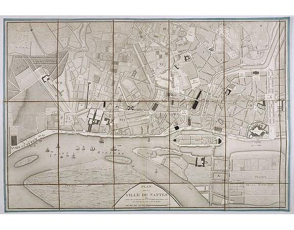 SEBIRE, J. -  Plan de la ville de Nantes.