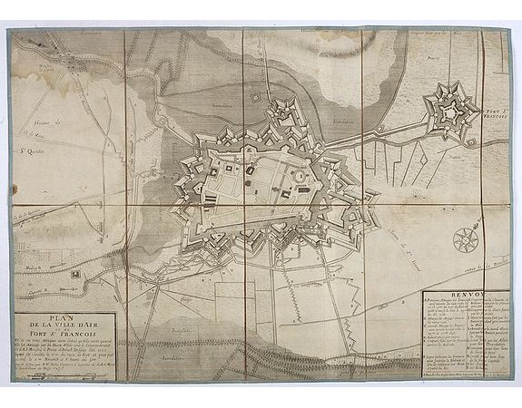WEBER (Jean Henri, capitaine) -  Plan de la ville d'Air et du fort St. François.